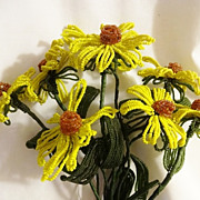 Old Bunch Beaded Flowers - Daisies