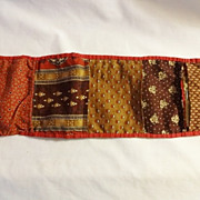 Antique Cloth Sewing Roll Up