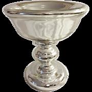 Mercury Glass Compote