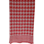 SALE Turkey Red Tablecloth - Long