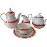 Old Childrens Porcelain Tea Set
