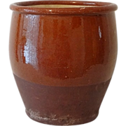 Redware Red Ware Pottery Dye Pot