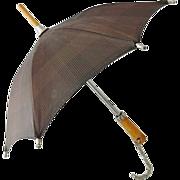 Dolls Umbrella w Wood Handle