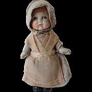 Porcelain Quaker Doll with Clothes