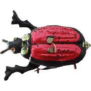 Antique Tin Toy Beetle - Germany