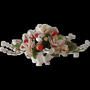 Vintage Shellwork Floral Centerpiece