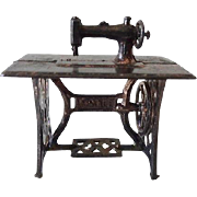 Old Dollhouse Miniature French Sewing Machine