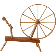 SOLD Dollhouse Shaker Spinning Wheel by Chestnut Hill Studio - Signed