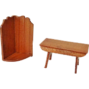 Dollhouse Shaker Sconce and Colonial Footstool - Chestnut Hill Studio