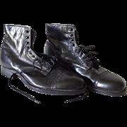 Old Men's Button Lace Up Boots Shoes