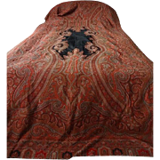 SALE Antique Victorian Paisley Shawl - Extra Long