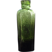 Unusual Tall Snuff Bottle Almost Pontil