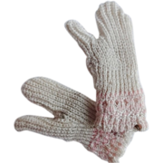 Antique Pair Doll Mittens
