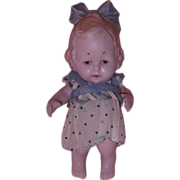 """SOLD Adorable German Bisque 5"""" Toddler Doll"""