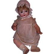 "21"" Nippon Bisque Head and Composition Baby Doll"