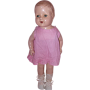 Adorable Composition Molded Hair Doll