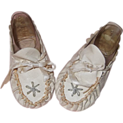 Adorable Soft Leather Shoes for Large Bisque or Composition Baby Doll