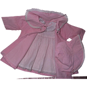 Factory Coat w/ Matching Bonnet and Dress for Dy-Dee Baby or Tiny Tears 20 ...
