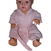"Adorable Pink Robe for Dy-Dee Or Tiny Tears 15"" Doll"