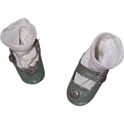 SOLD Authentic Effanbee Patsy JR Composition Doll Shoes TLC