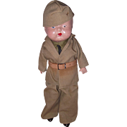 WWII Military Soldier Composition War Boy Doll