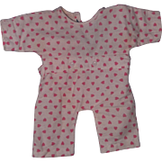 "Effanbee Authentic Dy-Dee Baby Heart Drop Seat Pajamas for 15"" Doll"
