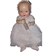 Factory Happy Tot Composition Baby Doll ~ Rare American Character Doll