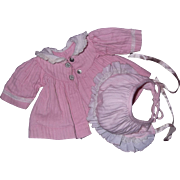 """Factory Tiny Tears or Dy-Dee Baby Coat & Bonnet for 15"""" Doll"""