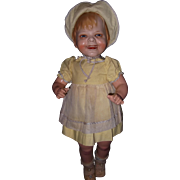 """Gladdie by Borgfeldt Composition and Biscaloid 23"""" German Character Doll"""