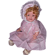 """Ideal Shirley Temple Baby 16"""" Composition Doll"""