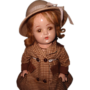 Very Pretty Fashionable 1940s Composition Girl Mama Doll
