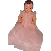 "Authentic Effanbee Dy-Dee Long Organdy Gown w/ Matching Slip for 11"" Doll"