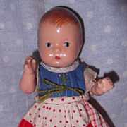 Effanbee Baby Tinyette Straight Leg Composition Doll