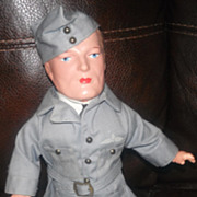Military composition doll all original WW II Airman  Pilot