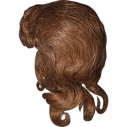 """Human Hair Vintage  Wig for 18"""" Bisque or Composition Doll"""