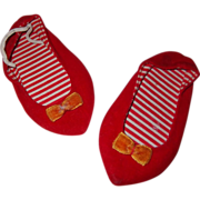 Factory Orig Chatty Cathy Red Velvet Shoes