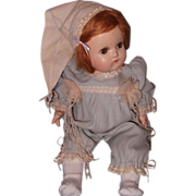 Darling French Romper & Bed Cap for your favorite Bisque or Composition Doll