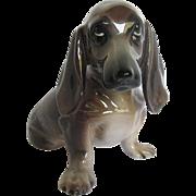 Wierner Kunst Keramik Wien Keramos Dachshund Puppy Figurine - Designed by Angelo Bortolotti