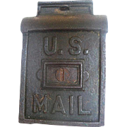 Vintage Early 1900's Cast Iron U.S. Mail Postal Box Still Coin Bank