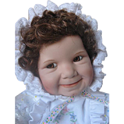 "Ashton Drake ""Baby Miss Muffet"" Porcelain Doll #93704 - NIB - Original Box - Never b"