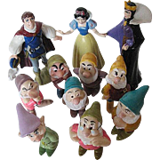 Disney Snow White & The Seven Dwarfs Figurine Set 10 pc. - signed