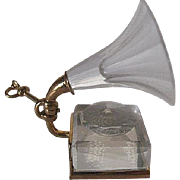 Swarovski Crystal Memories 22-24K Gold Plated Old Fashion Phonograph