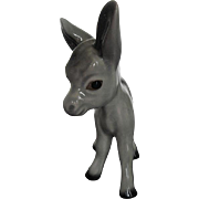 Vintage Hand-Painted Porcelain Gray Donkey figurine - made in England