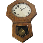 Howard Miller Oak Wall Clock with Westminster Chime - Model 612-709
