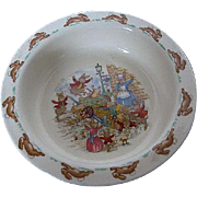 "Royal Doulton ""Bunnykins"" - ""Toppled Vegetable Cart"" cereal bowl - Made in"