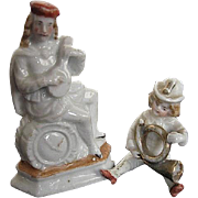 Antique German Bisque Porcelain Musician Figurines - late 1800's-early 1900's era