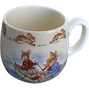 "Royal Doulton ""Bunnykins"" Family Fishing Outing Cup - signed - Made in England"