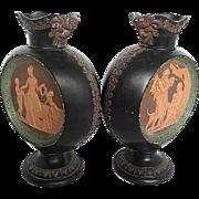 Gerbing & Stephan Bohemian Pottery - Greek Motif Vases - signed G.&St. 2018