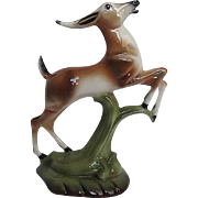 Artistic Potteries California 707- Hand-painted Leaping Gazelle figurine - Signed - 1950's era