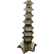 Vintage Brass Pagoda figurine - made in China